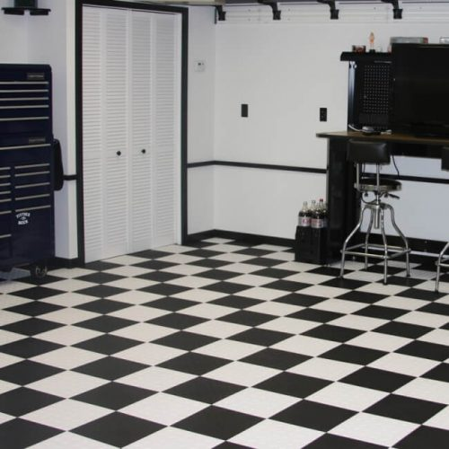 Diamond Garage Floor Tiles Checkered
