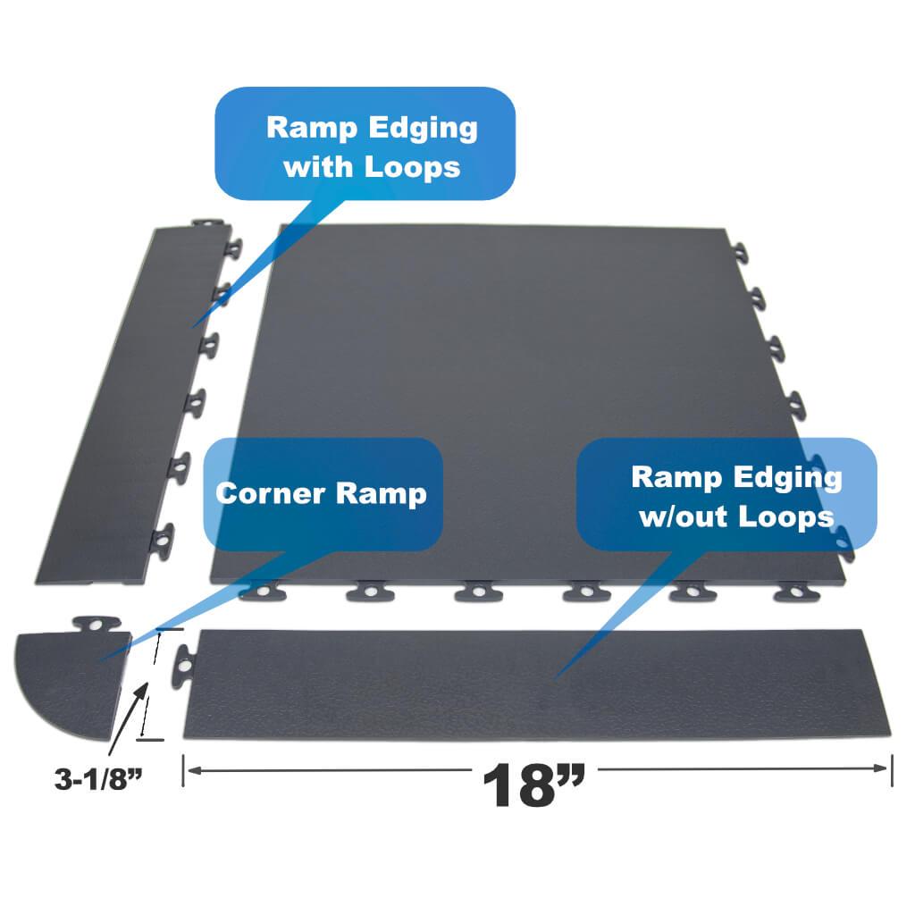 Flexible PVC Edging Trim gray